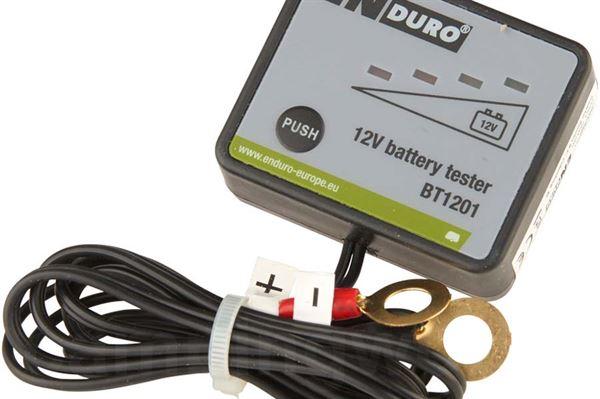 Batteritester til fastmonteret batteri
