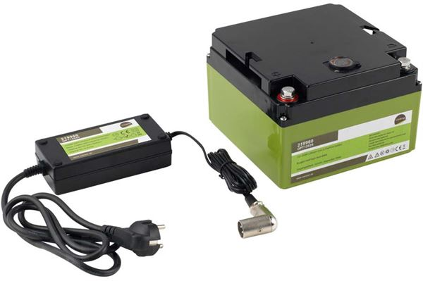 "Image of   Strømforsyning ""Wecamp Power Pack"" 12V 12v,3,9 kg. 20a/120a lithium batteri"