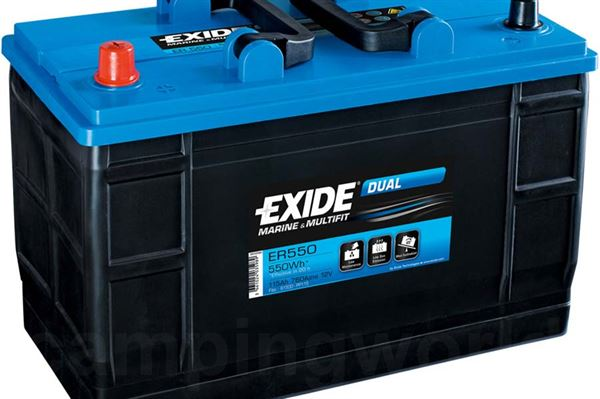 "Image of   Batteri ""Exide Dual"" 115A"