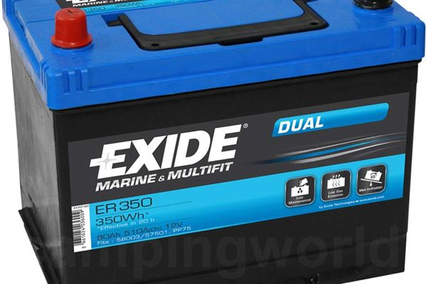 "Image of   Batteri ""Exide Dual"" 80A"