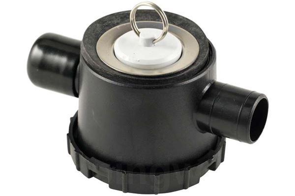 Image of   Afløb til brusebund 33 mm med vandlås