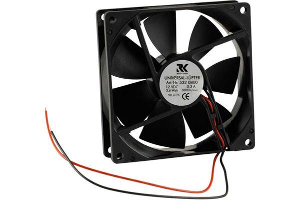 Ventilator, universal 12V forbrug: 2,6w