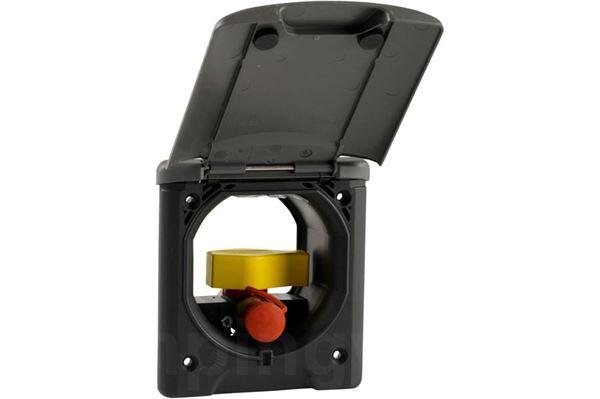 """Gasstikdåse """"ABL"""" mørkegrå ncs7000,  med magnetlåg"""