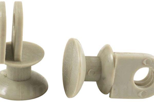 Image of   Glider til forhæng (2 stk.) grå 14mm