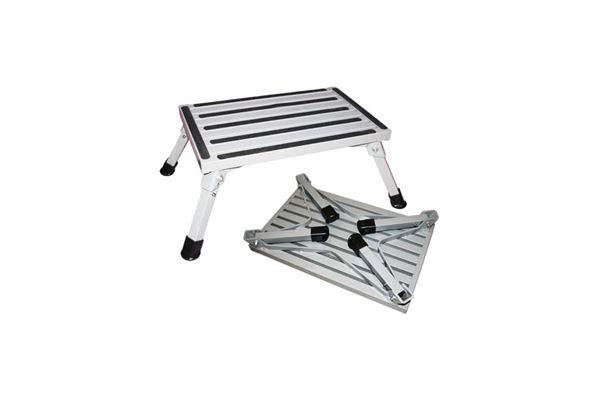 Trappetrin, aluminium foldbart med anti-slip overflade