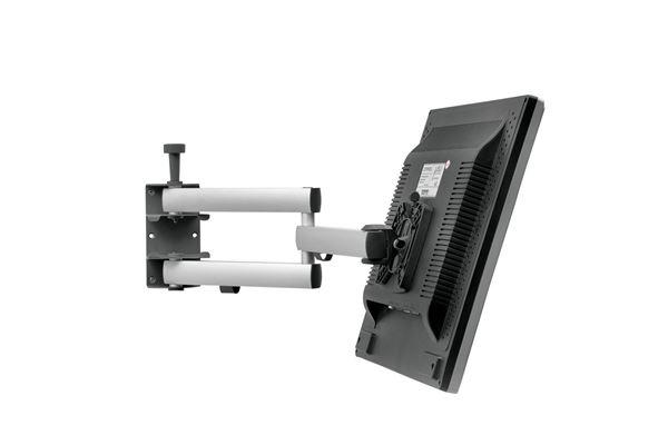 """Image of   Beslag til fladskærm """"SKY 10N"""" 200x200 med dobbelt arm og lås til skærm."""
