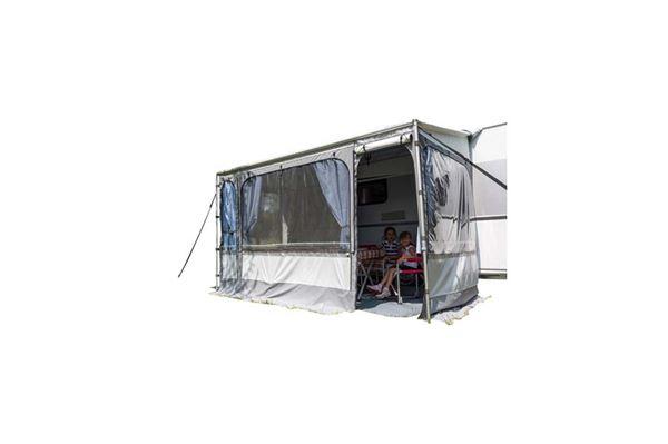 """Markise med telt """"Caravanstore ZIP 310"""" lgd.: 318 cm. dybde: 225 cm. grå"""