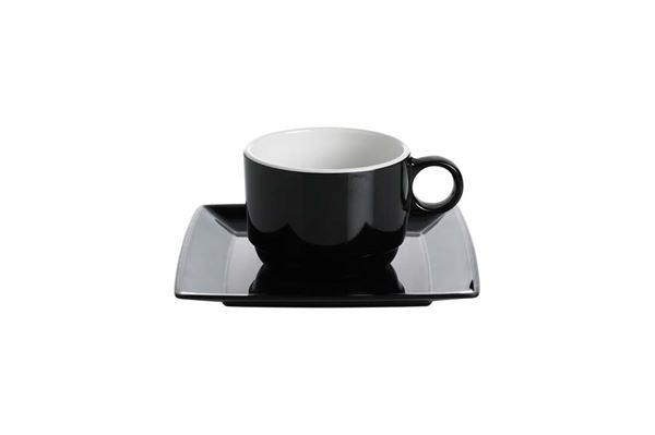 """Image of   Kaffekop 0,3 l """"Quadrato"""" sæt med 2 kopper inkl. underkop"""