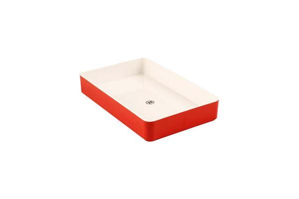 """Image of   Bakke """"Gimex"""" 28 x 18 cm., farve: rød"""