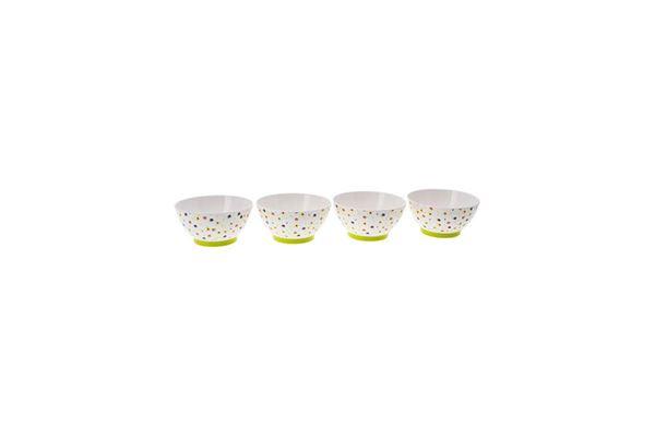 "Image of   Müsliskåle ""Gimex Lemon Flowers"" 4 dele, ø: 15 cm."