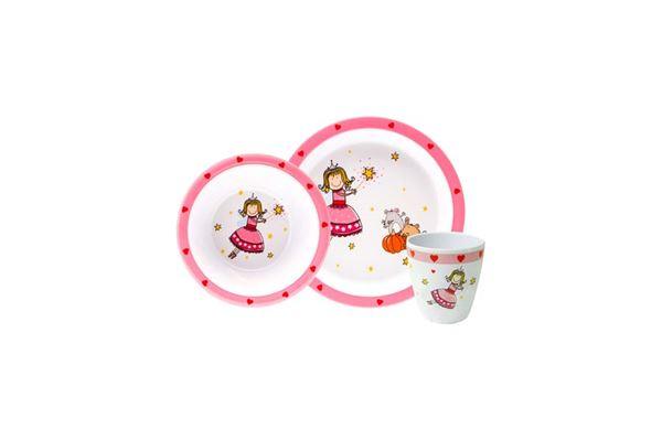 "Image of   Børnemelamin ""Tryllefe"" 3 dele, tallerken, skål og krus"