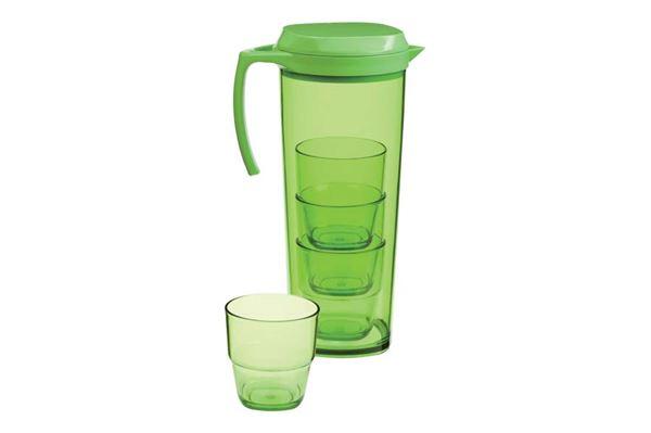 Image of   Kande med 4 krus farve: grøn