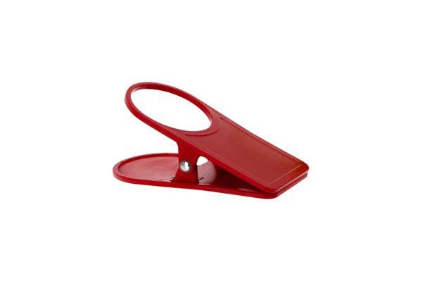 """Kopholder """"Clip On"""" farve: rød"""