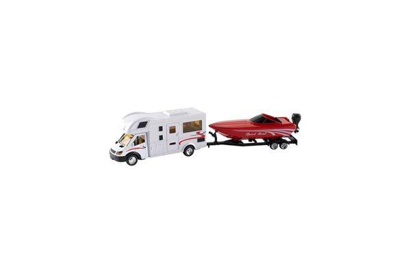 Legetøj Autocamper med båd