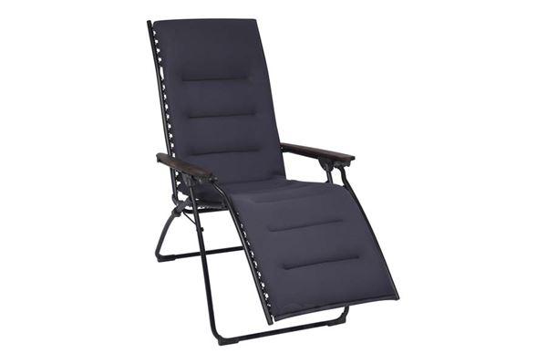 "Image of   Lafuma relaxstol ""Evolution Air Comfort"" farve: sort, air comfort betræk"