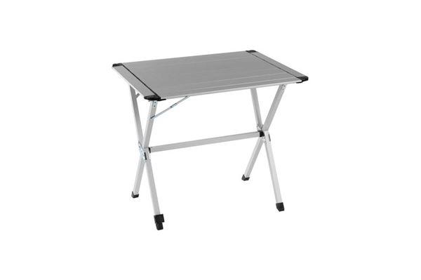 """Lamelbord """"WeCamp Reikjavik"""" 80 x 60 cm. med justerbart ben og 2 delt bordplade"""