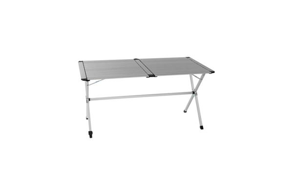 """Lamelbord """"WeCamp Reikjavik"""" 140x80 cm. med justerbart ben og 2 delt bordplade"""