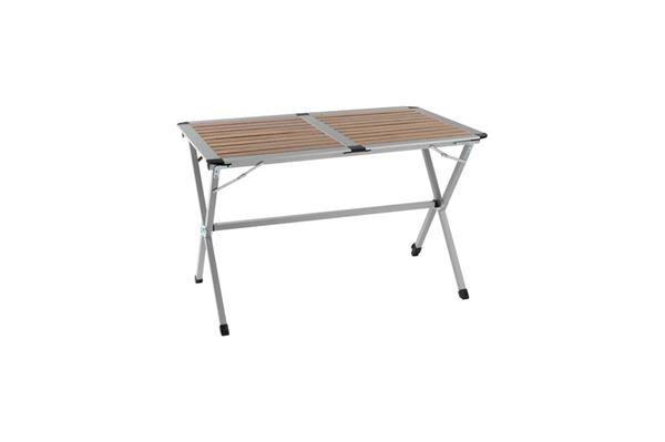 """Lamelbord """"WeCamp Bamboo"""" 110x70 med justerbart ben og fuld bordplade"""