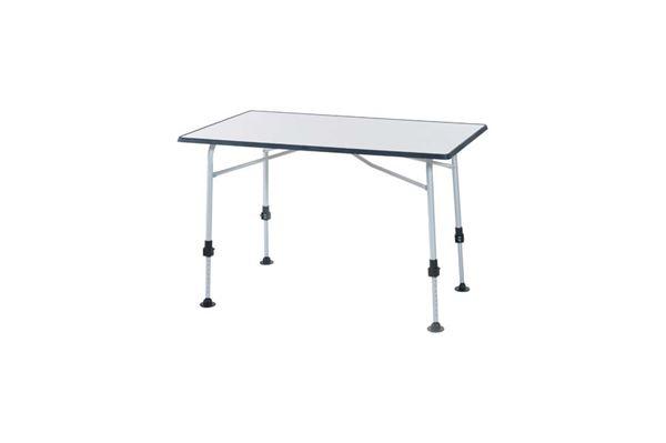 """Campingbord """"Wecamp"""" 115 x 70 cm. med grå kant og justerbare ben"""