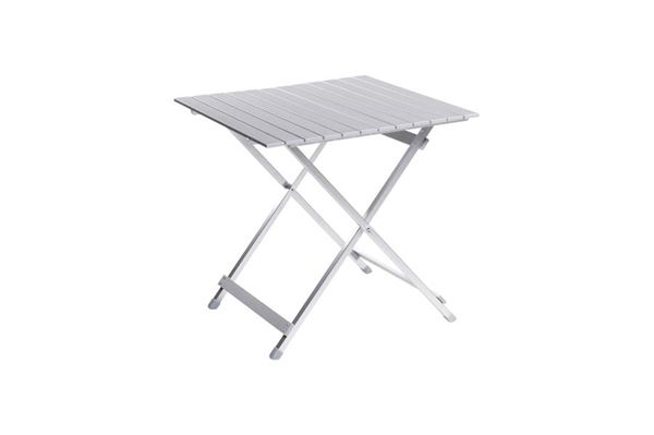 Klapbord aluminium 70 x 70 cm.