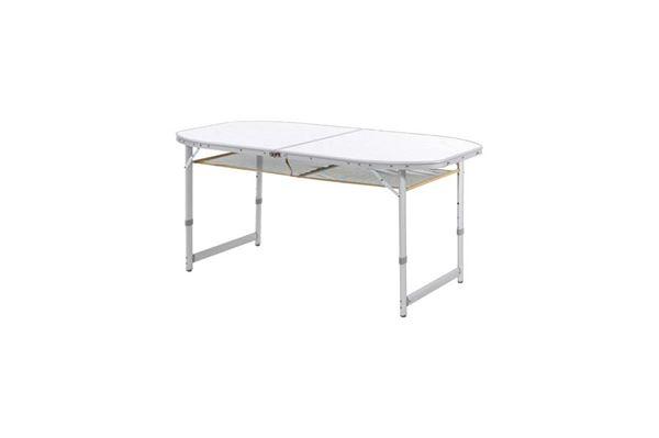 """Campingbord """"Wecamp Quebec"""" 150 x 80 cm. sammenklappeligt med oval bordplade"""
