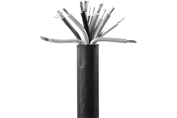 Image of   13-ledet PVC kabel 3 x 2,5 mm2 + 10 x 1,5 mm2, sort