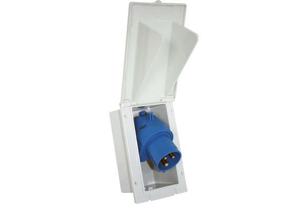 Image of   230 V indbygningsstikdåse med vippelåg