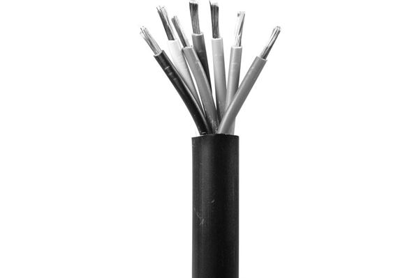7-ledet PVC kabel 7 x 1,5 mm2, sort