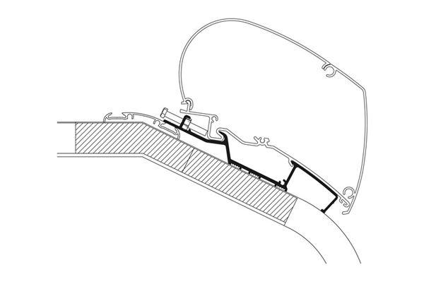 Adaptor til Hymer serie 5 og 8 fra 2012 og frem. Længde 4,0 m.