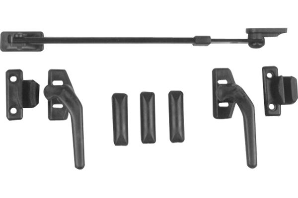 Image of   Beslag til køkkenvindue, vinduesstiver L 210 mm, hulafstand 20 mm
