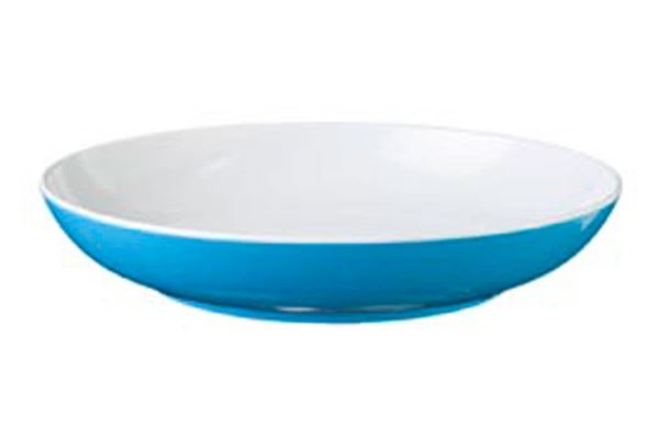 Image of   Blå Spectrum dyb tallerken, aquablå