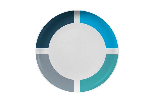 Image of   Blå Spectrum flad tallerken
