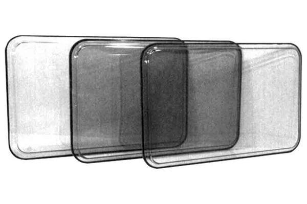 Image of   Brunt vindue, fast, H 432 x L 882 mm