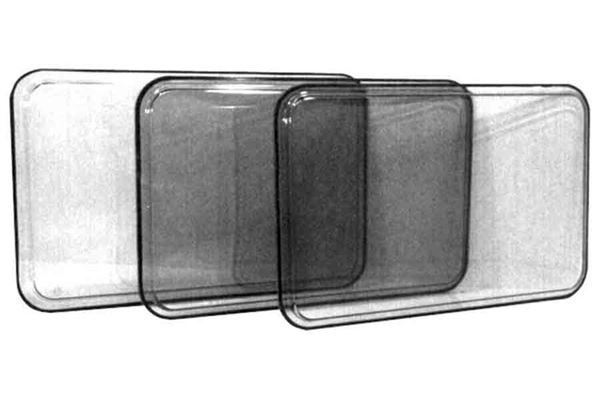 Image of   Brunt vindue, fast, H 550 x L 1540 mm