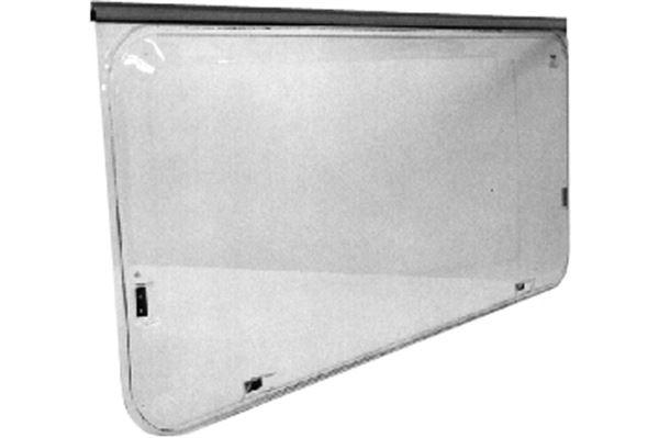 Brunt vindue, oplukkeligt med alukant, H 760 x L 1550 mm