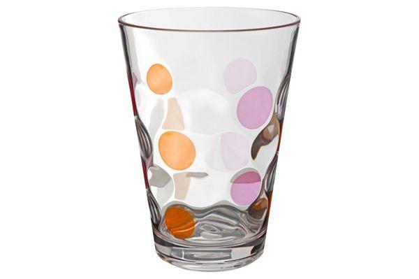 Drikkeglas Baloons pink/orange, 35 cl., 2-pak.