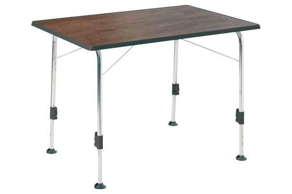 Dukdalf Stabilic campingbord 115 x 70 cm. Gråbrun.