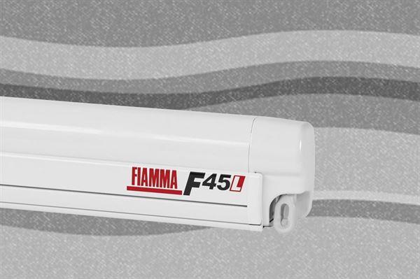 Fiamma F45 L markise, Deluxe Grey, hvid boks