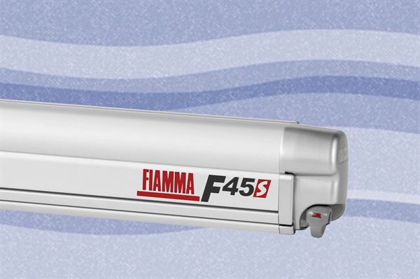 Fiamma F45 S markise, Blue Ocean, titanium boks