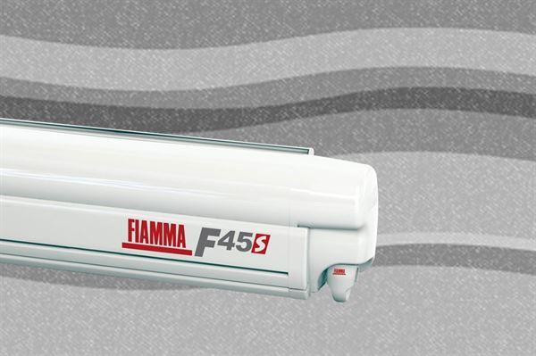 Fiamma F45 S markise, Deluxe Grey, hvid boks