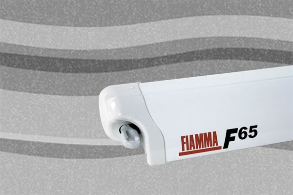 Fiamma F65 markise, Deluxe Grey, hvid boks