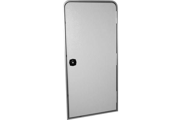 Glat indgangsdør, hvid, 800 x 1700 mm