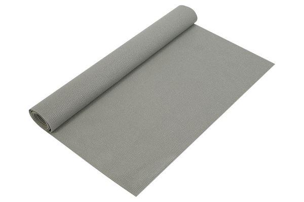 Gulvtæppe i polyester, grå.