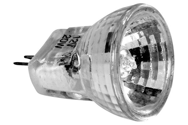 Halogen pære 12 V, 10 watt, Ø 25 mm