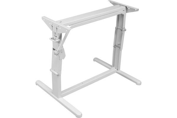 Image of   Hæve/sænke-bordstel, lysegråt, L 750 x H 340/700 mm