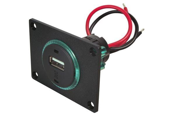 Image of   Indbygningsstikdåse med plade USB