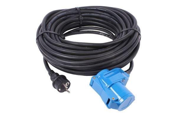 Kabel 3 x 2,5 mm2 - CEE 17 vinkel og Schuko han