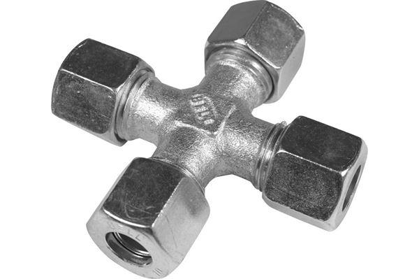 Krydsled, stål, 10 x 10 x 10 x 10 mm
