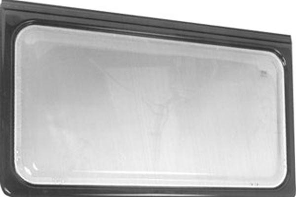 Oplukkeligt vindue med 40 mm brun kant, H 595 x L 970 mm