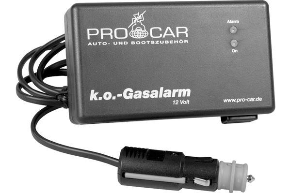 Pro-Car gas- og narkosealarm 12 V / 24 V